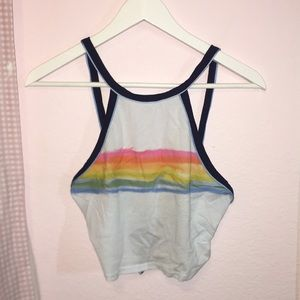 Urban Outfitters Halter Crop Open Back Top